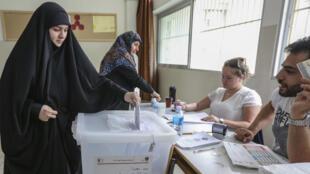 La agrupación política Hezbolá, podría obtener la mayoría de los escaños en el parlamento tras las elecciones del domingo 6 de mayo. Mayo 6 de 2018.