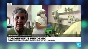 2021-04-12 14:11 Coronavirus pandemic: France opens up vaccine eligibility to over 55s