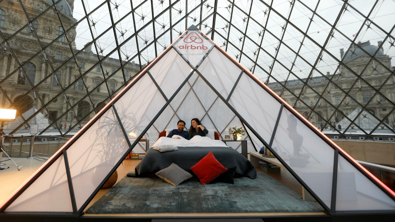 In 2019, Airbnb and the Louvre held a contest to spend the night in a little pyramid at the museum.