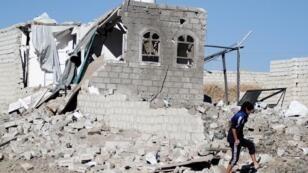 غارة جوية شنها التحالف بقيادة السعودية على صنعاء، اليمن- 1 فبراير/شباط  2019