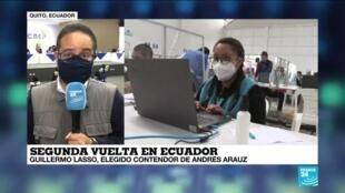 2021-02-20 18:02 Informe desde Quito: Guillermo Lasso elegido contendor de Andrés Arauz para segunda vuelta