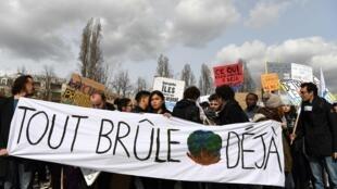 Manifestation pour une politique écologique, à Paris, le 8mars2019.