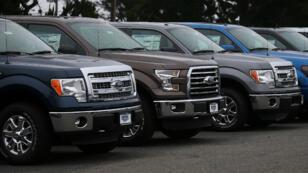 Des véhicules Ford vendus en Californie, aux États-Unis.