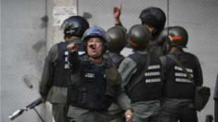 Miembros de la Guardia Nacional. Caracas, Venezuela. 21 de enero.