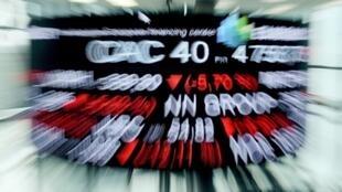 L'indice CAC 40 de la Bourse de Paris