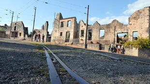 View dated on August 30, 2013 shows the martyr village of Oradour-sur-Glane, central France, where 642 citizens including 500 women and children were killed locked up in a church intentionally set on fire by a SS division on June 10, 1944. German President Gauck will be the first German president to visit Oradour-sur-Glane in September 2013, where a Nazi massacre in June 1944 wiped out almost the whole village.
