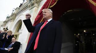 Donald Trump le jour de son investiture à Washington, le 20 janvier 2017.