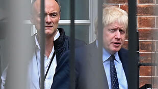 Boris Johnson's top adviser Dominic Cummings (left) is under fire for breaking lockdown rules