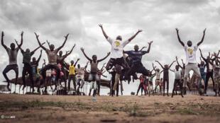 Atelier de danse organisé dans le camp de réfugiés d'Inke, en République démocratique du Congo.