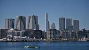 صورة لمباني القرية الأولمبية في طوكيو في 25 آذار/مارس 2020.