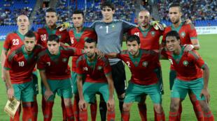 L'équipe du Maroc lors d'un match contre la Libye, en septembre 2014.