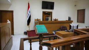 Une salle du tribunal antiterroriste de Karkh de Bagdad, le 29 mai 2019, où 11 Français et un Tunisien ont été condamnés à mort.