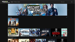 L'interface d'Amazon Prime Video en France est en anglais.