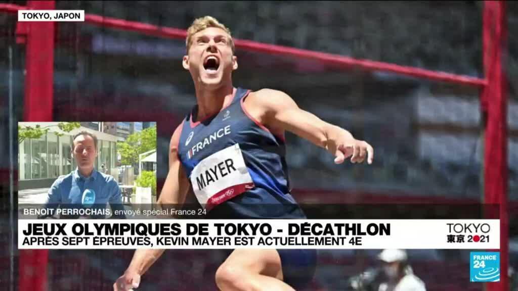 2021-08-05 10:41 JO de Tokyo - Décathlon : le Français Kévin Mayer se rapproche du podium
