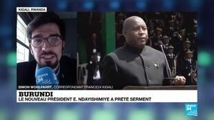 2020-06-18 14:13 Burundi : le nouveau président Évariste Ndayishimiye a prêté serment