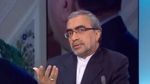 L'ambassadeur iranien à Paris, Ali Ahani, sur le plateau de France 24.