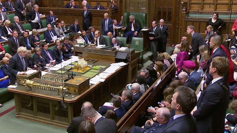 Les parlementaires britannique votent, le 19octobre, sur l'accord de sortie de l'Union européenne négocié par Boris Johnson.