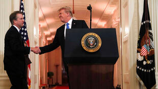 El presidente estadounidense, Donald Trump, durante la presentación de Brett Kavanaugh como su nominado a ocupar el cargo de Anthony Kennedy en el Tribunal Supremo, el 9 de julio de 2018 en Washington.
