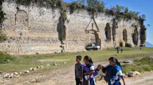 Cuadro de un video con habitantes del poblado indígena mexicano de San Juan Cancuc