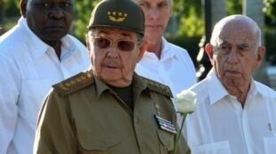 Le président cubain Raul Castro à Santiago de Cuba, le 4 décembre 2017.