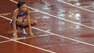 Allyson Felix, médaillée de bronze sur le 400 m.
