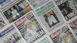 Les unes des journaux britanniques, le 9 juin 2017