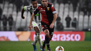 Goran Pandev, pictured here playing against Juventus, set Genoa on the way to a big win over SPAL
