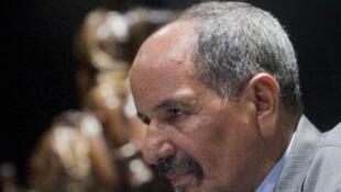 الأمين العام لبوليساريو، محمد عبد العزيز، في مدريد 14 نوفمبر 2014