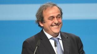Michel Platini lors du Congrès de l'UEFA, à Vienne, en Autriche, le 24 mars 2015.