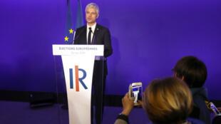 Laurent Wauquiez, dimanche 26 mai 2019 à Paris, après les résultats des élections européennes.
