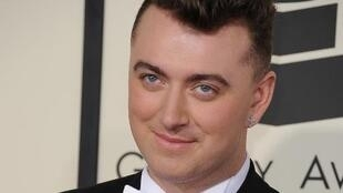 British soul singer Sam Smith on the red carpet at the Grammy awards on February 8.