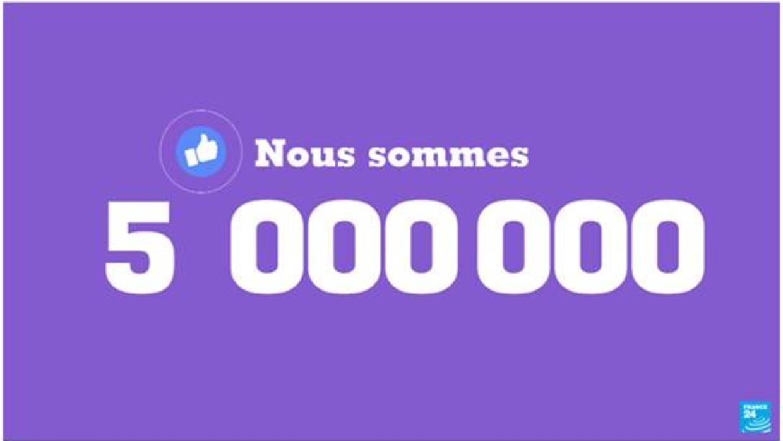 France 24 franchit les 5 millions d'abonnés en français sur Facebook