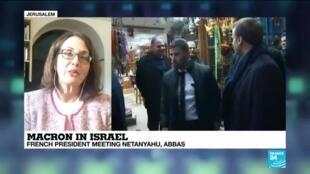 2020-01-22 15:33 French President Macron meets Netanyahu, Abbas in Israel