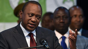 Le président kenyan, Uhuru Kenyatta, dont l'élection  avait été invalidée par la Cour suprême.