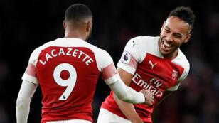 Lacazette et Aubameyang ont dynamité la défense de Tottenham lors d'un derby complétement fou.
