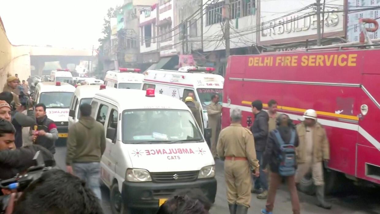 Inde : au moins 32 morts dans l'incendie d'une usine à New Delhi