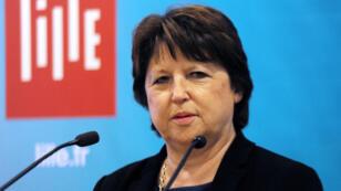 La maire PS de Lille, Martine Aubry, fait partie des 18 signataires d'un réquisitoire contre la politique du gouvernement.
