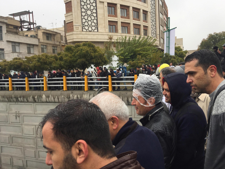 Manifestation contre la hausse du prix du pétrole, à Téhéran, le 16 novembre 2019