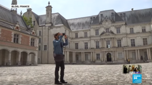 After two months of closure, the very first visitors are venturing back inside the historic Blois castle in central France.