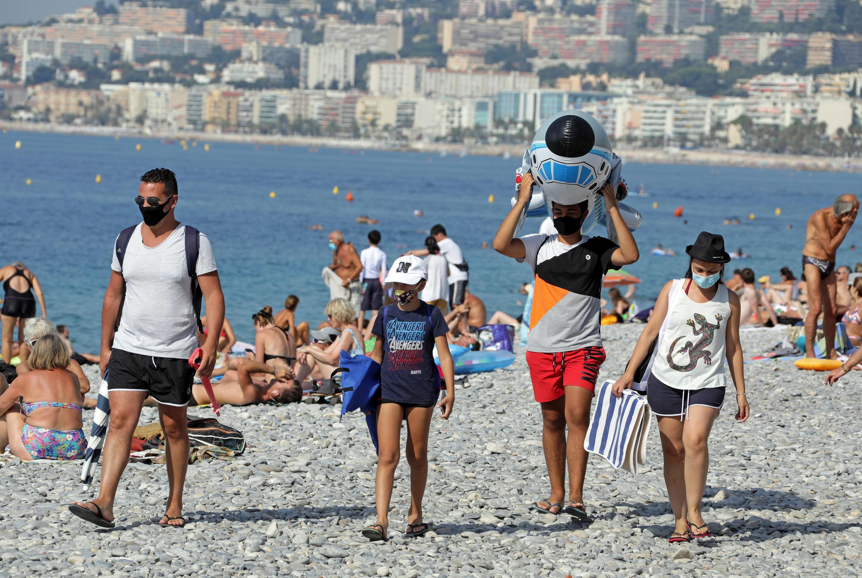 Une plage de Nice, le 12 août 2020.