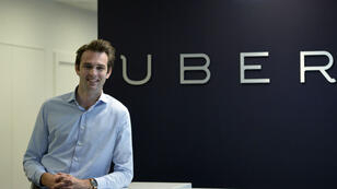 Thibaud Simphal, General Director of Uber France, poses on Mai 19, 2015 at Uber French headquarters in Paris