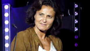 Sandrine Roustan, candidate à la présidence de France télévisions, le 28 août 2012 à Paris