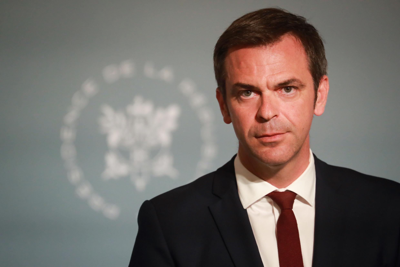 Olivier Véran, le ministre de la Santé lors d'un point de presse à l'Elysée, le 27 mai 2020