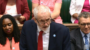 Jeremy Corbyn à la Chambre des communes lors des questions au gouvernement, le 18 juillet 2018.