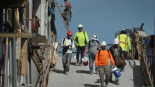 Esta foto de archivo de 4 de septiembre de 2020 muestra una construcción en Miami, Florida