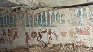 Des peintures dans la nécropole de Gebel el-Silsila.
