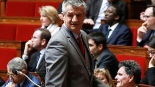 Le député non-inscrit des Pyrénées-Atlantiques Jean Lassalle, le 5 mars 2019 à l'Assemblée nationale à Paris
