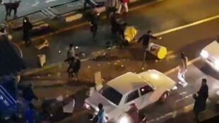 Violences dans les rues de Téhéran, le 30 décembre 2017.