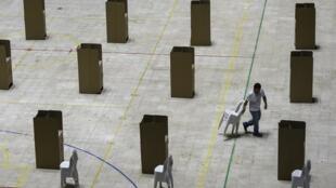 Un bureau de vote à Cali, en Colombie, le 25 Mai 2018.