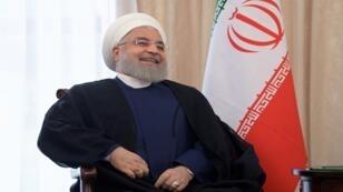 الرئيس الإيراني حسن روحاني، قيرغيزستان، 14 يونيو/حزيران 2019.